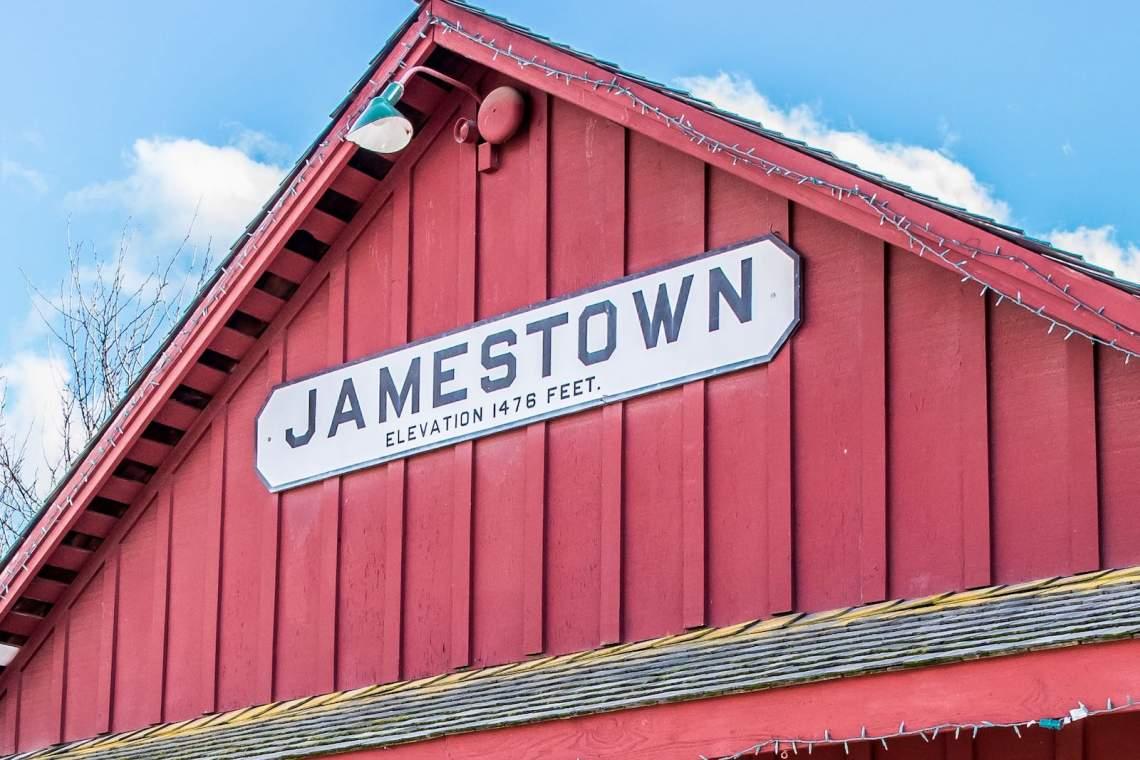 Jamestown, Train Staion Elevation Sign